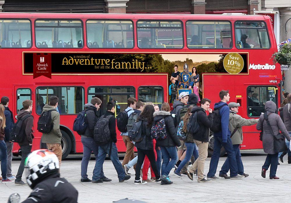 Alnwick Castle 2016 Campaign bus advertisement