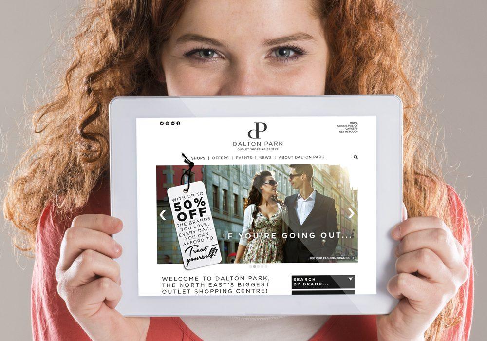 Dalton Park website on iPad