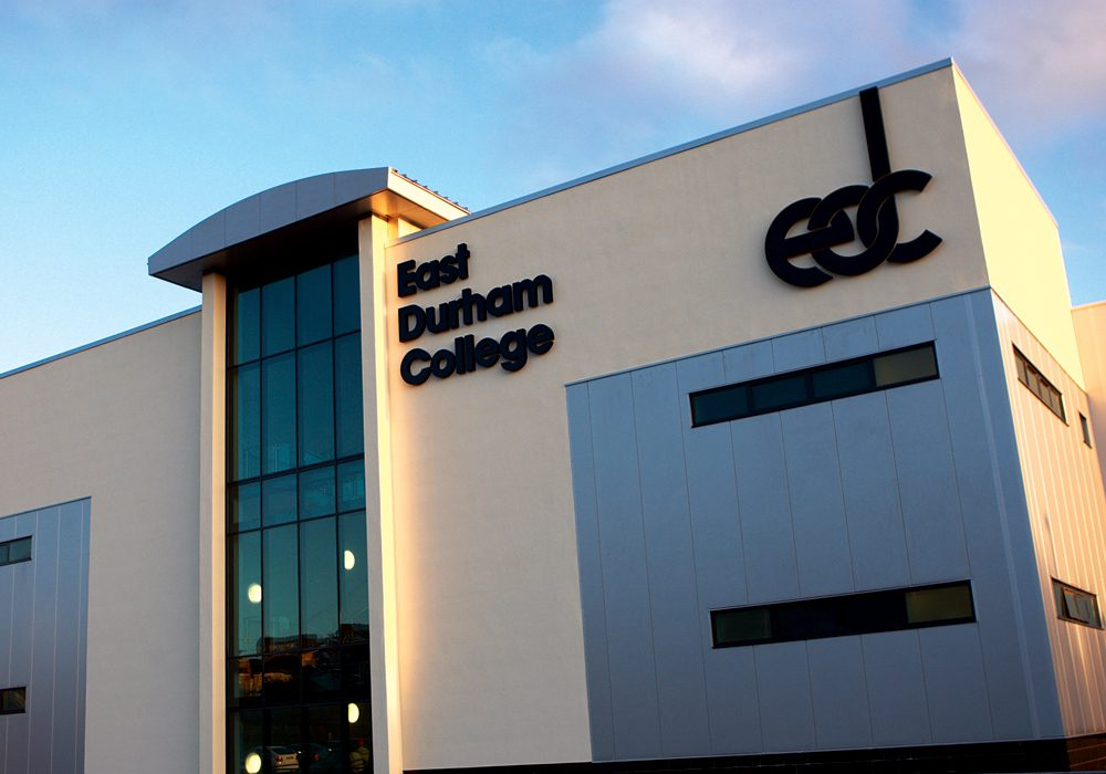 East Durham College outside of building