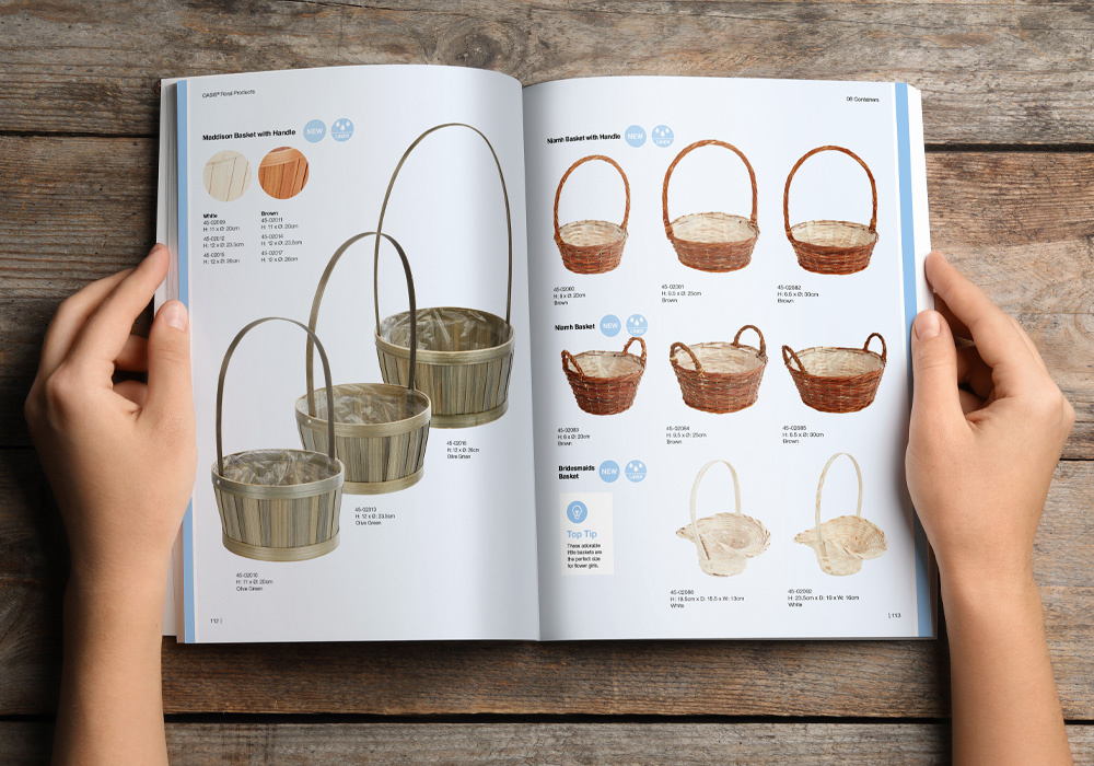 OASIS product brochure spread
