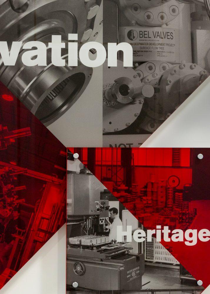 British Engines internal office wall vinyl graphic