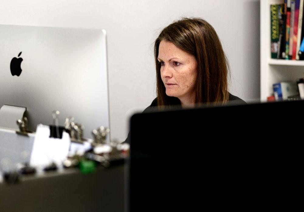 Clare Goddard at work