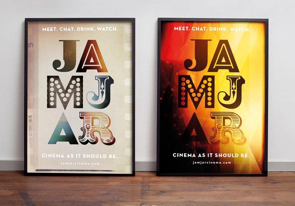 Jam Jar Cinema brand posters
